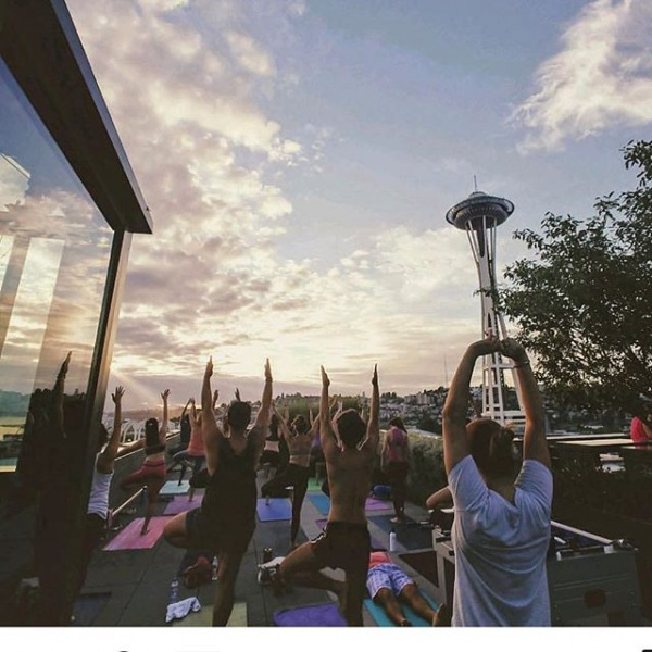 Successful rooftop vinyasa with Breathe Hot Yoga